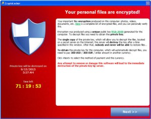 Nasty virus holds computer to ransom